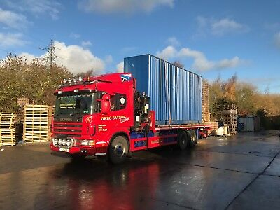 20ft shipping container. Advertising transport to/from anywhere in uk