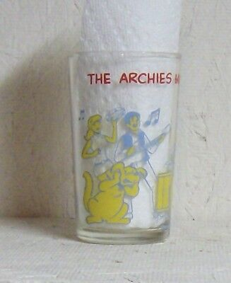 """1971 """"the Archies"""" Having A Jam Session Drinking Glass 