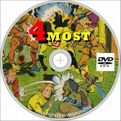 4 Most Comics on dvd 36 Issues Dick Cole, Target