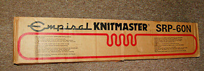 Knitmaster SRP-60N silver Reed knitting machine ribber. Good condition boxed