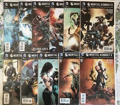 Mortal Kombat X 1 2 3 4 5 6 7 8 Complete Comic Lot Run 1st Print Sub-Zero