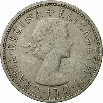 [#522355] Coin, Great Britain, Elizabeth II, Florin, Two Shillings, 1962