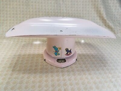 Vintage Counselor Brearley Pink 24 Metal Baby Scale 1950s Era Nursery Decor Prop