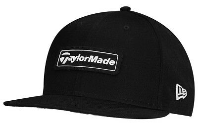 TaylorMade Lifestyle New Era 9Fifty Snapback Flatbill Golf Hat Black White  New d3a509bab