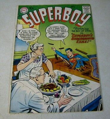 Superboy #59 Superbaby, Amazing Man, 10 Cent Cover, 1957