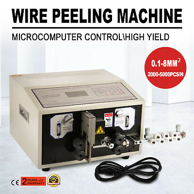 Computer Wire Peeling Stripping Cutting Machine Microcomputer 0.1-8mm² 300W