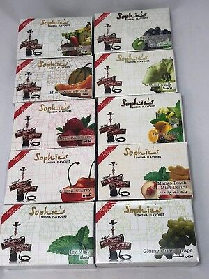 Sophies Shisha Flavour Natural Molasses Hookah Tobacco Free Bulk Pack 4 Pack