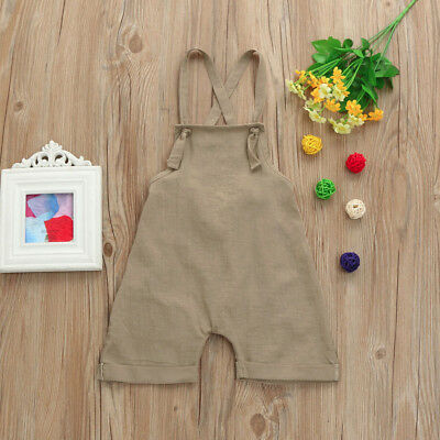 Toddler Kids Baby Boys Girls Overall Harem Strap Romper Playsuit Clothes Outfits