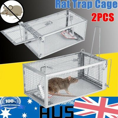 2PCS Rat Trap Cage Small Live Animal Pest Rodent Mice Mouse Control Bait Catch