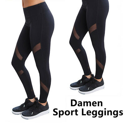 Damen Leggings Tights Sporthose Laufhose Fitness YOGA Gym Sports Jogging Leggins