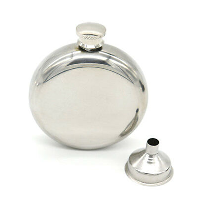 5oz Stainless Steel Round Hip Liquor Whiskey Alcohol Flask Pocket + Funnel Cup