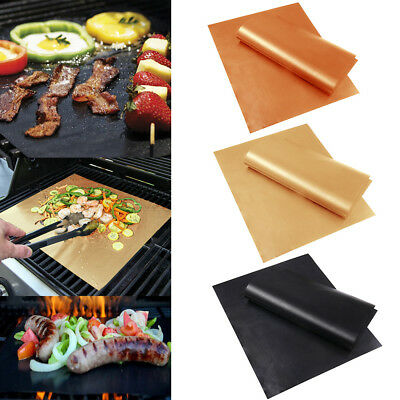 BBQ Grill Mat Teflon Reusable Sheet Resistant Non-Stick Barbecue Bake Meat