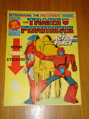 Transformers British Weekly #162 Marvel Uk Comic 1988