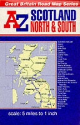 A-Z Scotland Reversible Road Map by Geographers' A-Z Map Compa Sheet map, folded