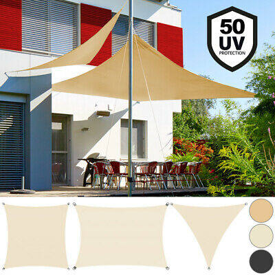DETEX® Sun Shade Sail Awning Canopy Garden Patio Sunscreen UV50+Protection  NEW
