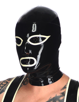 100% latex Rubber Mask Maske hood Catsuit Kapuze