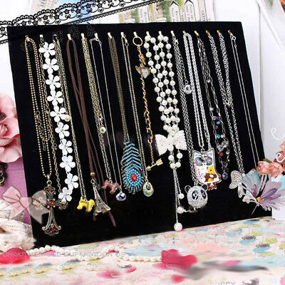 Necklace Chain Jewelry Velvet Display Holder Stand Easel Organizer Show Rack