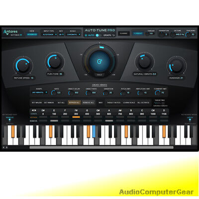 Antares AUTO-TUNE PRO Pitch Correction Plug-in Audio Software Vocal Effect NEW