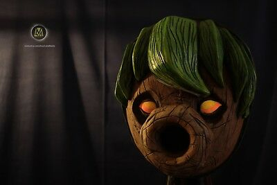 Legend of Zelda Majora's Inspired Deku Link Mask Glowing eyes cosplay birthday