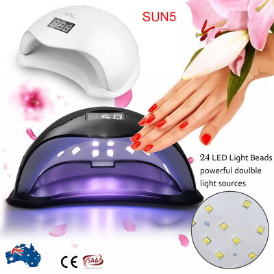 Updated SUN5 48W LED UV Nail Lamp Light Gel Polish Dryer Manicure Art Curing AU