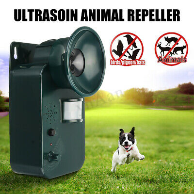 Ultrasonic Garden Cat Dog Fox Battery Operated Pest Repeller Scarer Deterrent