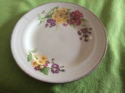 Vintage Staffs Teaset Co Ltd Plex St Pottery Tunstall Springflowers plate