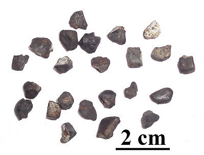 NEW! Chelyabinsk meteorite LL5, recent fall, Russia, lot of individuals 7 grams