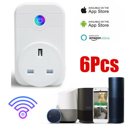 Wireless WIFI Smart APP Remote Control Timer Socket UK Plug Home Automation 1-6P