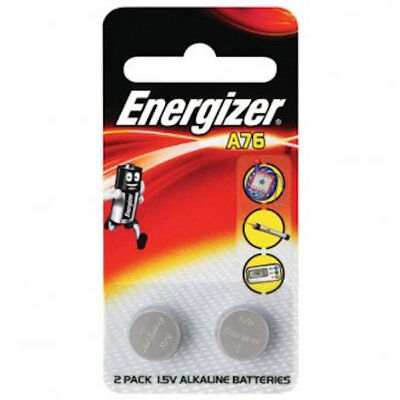 Energizer Coin Cell Battery - 2 x 1.5v Alkaline Batteries - A76BP2- FREE POST