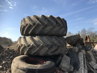 Jcb Wheels  with 50% tread approximately
