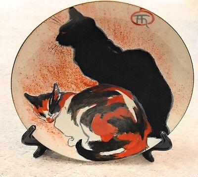 Limoges France Porcelain Cat Plate From Boston Museum Of Fine Arts Steinlen
