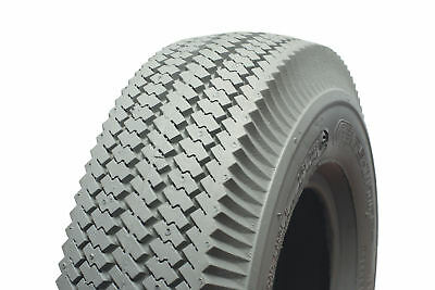 410/350 X 4 Grey Rib powered wheelchair or scooter tyre