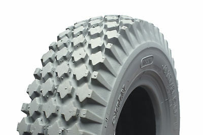 410/350 X 5 Grey Block powered wheelchair or scooter tyre