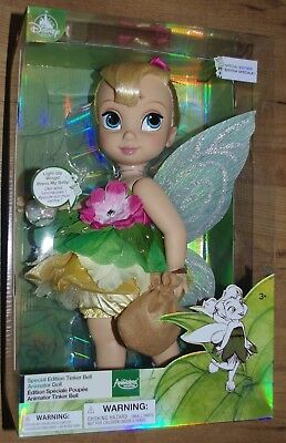 Disney Store Tinker Bell Special Edition Animator Doll Lights up wings H40 tink