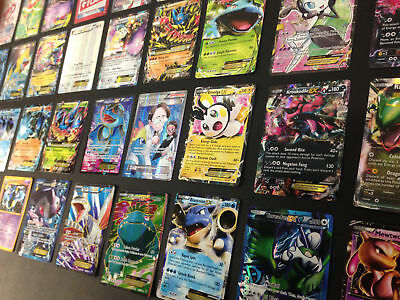 Pokemon Card Lot 50 OFFICIAL TCG Cards GX EX GUARANTEED! HOLO/RARES ALL SETS