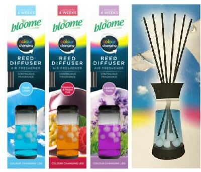 Fragrance Reed Diffuser 3 Scents Fragrant Home Air Freshener Lasts up to 4 Weeks
