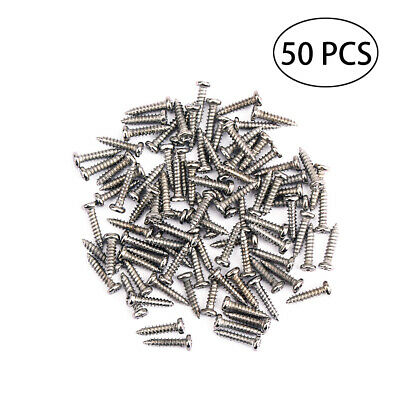 50 PCS Tuning Peg Screws Tuning Key Mounting Screws for Acoustic Electric Guitar