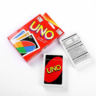 Standard 108 UNO Playing Card Game For Family Friends Travel Instruction New