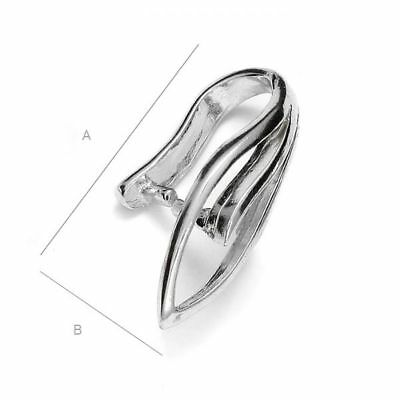 S5s4 High Quality pinch Bail pendant Sterling Silver 925 best for many crystals