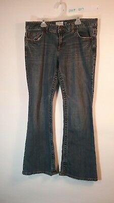 Aeropostale Hailey Skinny Flare Jeans Design on Pockets Size 13/14 Short