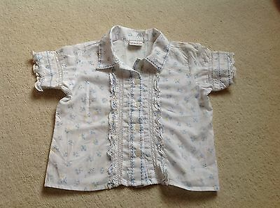 Next Girls Ditsy Floral Blouse, Lace, Ruffles, age 18 months - 2 yrs