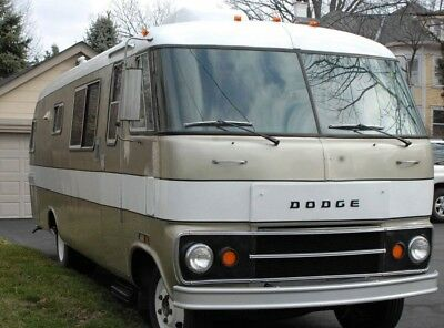 VINTAGE 1973 DODGE Travco RV unfinished project