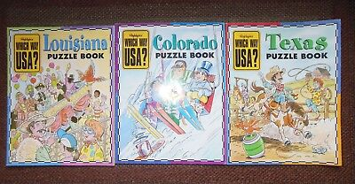 Highlights Texas and Colorado Which Way USA Magazine Puzzle Book No Maps