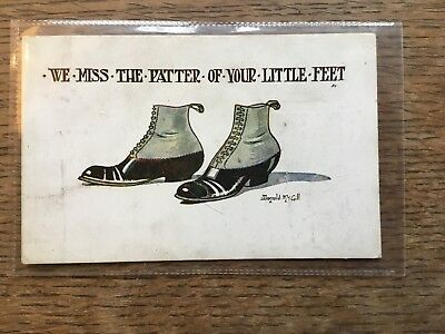 Donald McGill Shoes Comic Postcard WB177