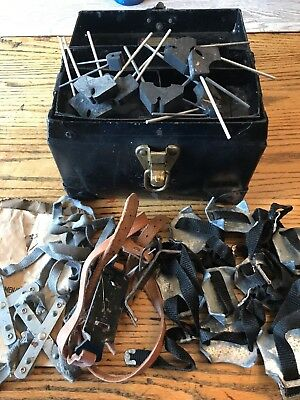 Bell System, New York, Sample Case, Ice Fishing Cleats, Ice Fishing Vintage