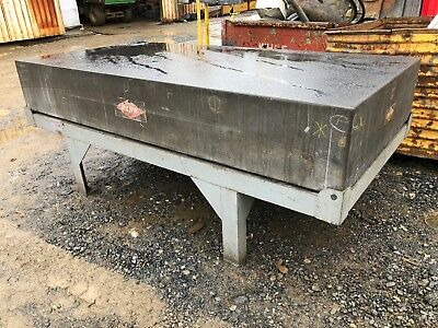 "14"" Rahn Granite Surface Plate / Inspection Table w/ Stand 4' x 8'"