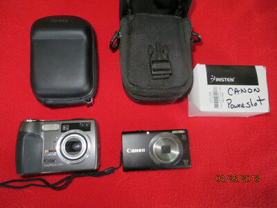 1 Canon PowerShot A2300 w/charger & 1 Kodak EasyShare Z760 both w/cases