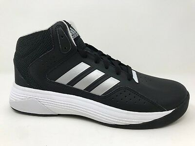 New! Boys Youth adidas AQ1331 Cloudfoam Ilation Mid Basketball Shoes Blk/Wht D45