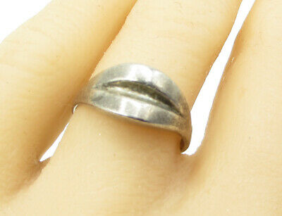 SIAM 925 Sterling Silver - Vintage Antique Peaked Band Ring Sz 9 - R1409