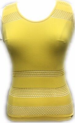 Women's MESH Cut Out Top Premium Stretch RACER BACK Tank top 7 COLORS NWT